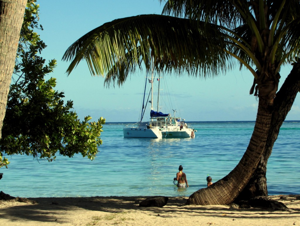 African Innovation on anchor in Moorea