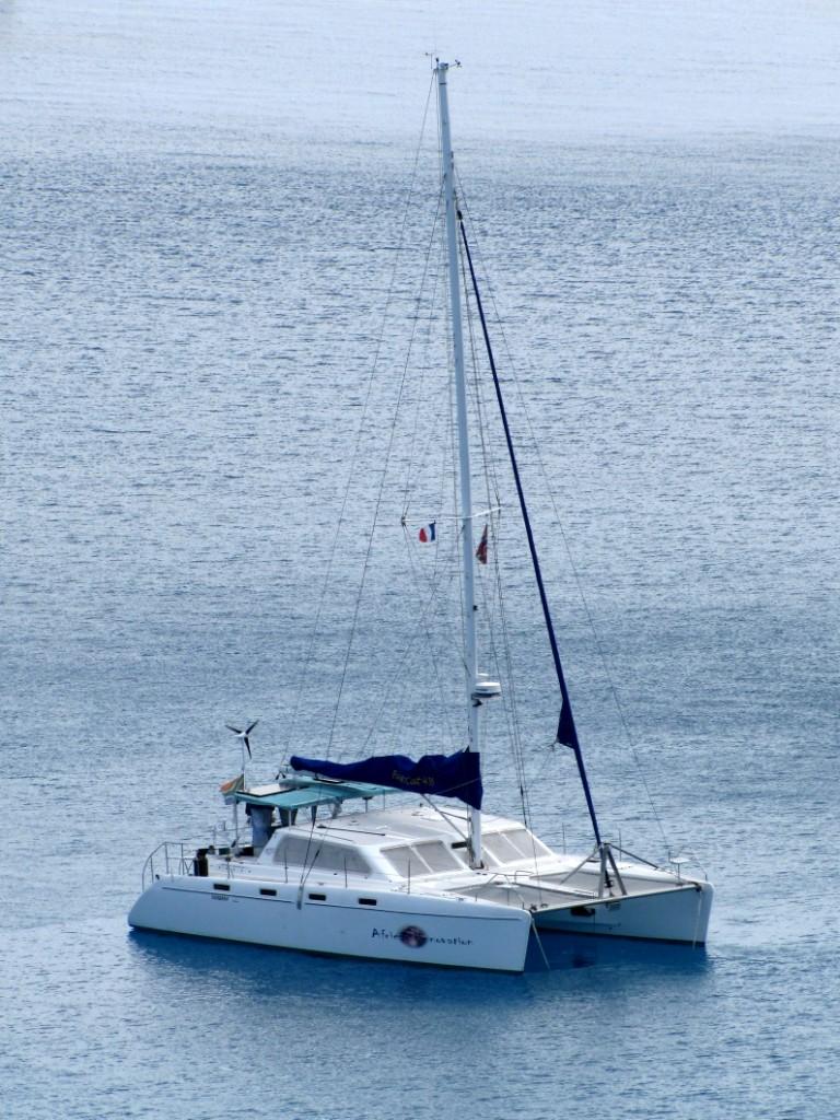 African Innovation on anchor in Bora Bora