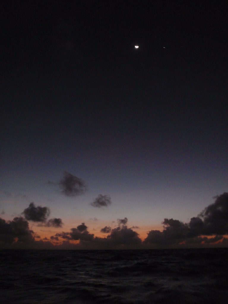The Pacific at night